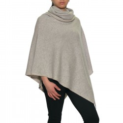 Poncho cashmere double-face